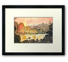 River and Autumn Trees Framed Print