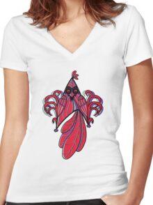 Star Bird Women's Fitted V-Neck T-Shirt