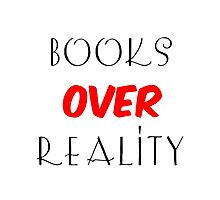 Books over Reality Photographic Print