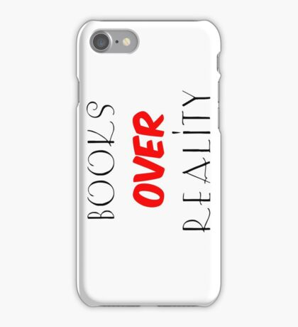 Books over Reality iPhone Case/Skin