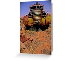 GMC tow truck, Fort Sumner, NM Greeting Card