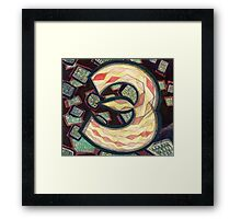 Number Painting 3 - Kickstarter Countdown Series Framed Print