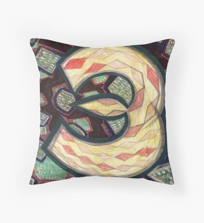 Number Painting 3 - Kickstarter Countdown Series Throw Pillow