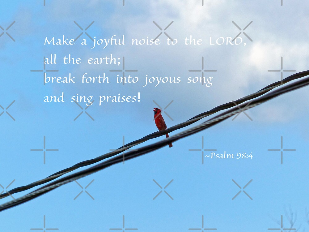 Psalm 98:4 Greeting Card by Susan S. Kline
