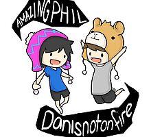 AmazingPhil and Danisnotonfire by iZelda