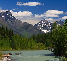 Glacier National Park over the Flathead River by DArthurBrown