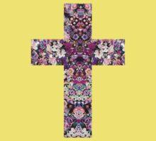 Floral Kaleidoscope - Cross Kids Clothes