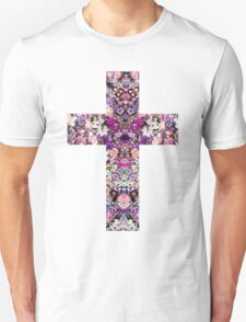 Floral Kaleidoscope - Cross T-Shirt