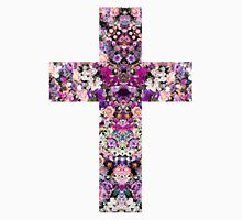 Floral Kaleidoscope - Cross Unisex T-Shirt