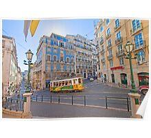 the beautiful light of Lisbon Poster