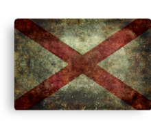 Alabama state flag Canvas Print