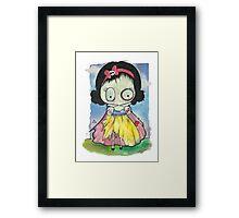 Zombie Snow White Framed Print
