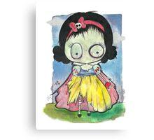 Zombie Snow White Canvas Print