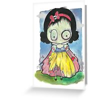 Zombie Snow White Greeting Card