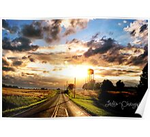Southern Illinois Sunset in May Poster
