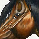 Eye Of the Horse by WildestArt
