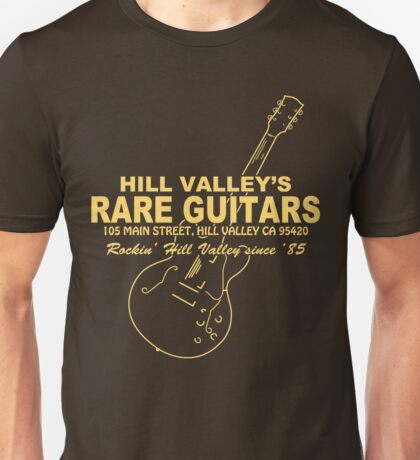 Hill Valley Rare Guitars - Rockin' Since '85 Gibby Unisex T-Shirt