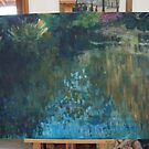 Large Monet Lily Pond WIP 4 by Terri Maddock