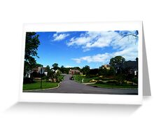 Americana-Suburbia Greeting Card