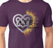 Fiery heart AYE shirt Unisex T-Shirt