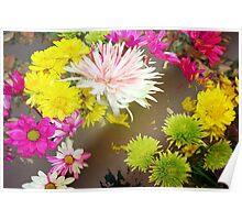 Tumbling flowers Poster