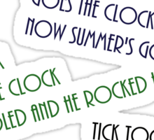 Tick tock - Doctor Who Sticker