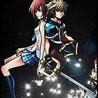 Kingdom Hearts Sora and Kairi Poster by Kerrisaurus