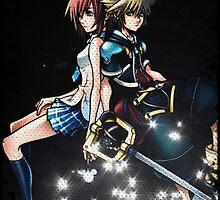Kingdom Hearts Sora and Kairi Poster by Kerrisaurus