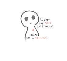Shy is NOT anti-social by kazhy