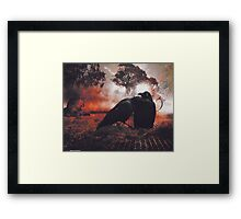 Of feathers, fur and a mobile home under the shade of an old gum tree Framed Print
