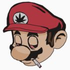 Mario Weed Shirt or Stickers by Kerrisaurus