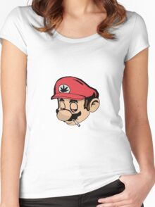 Mario Weed Shirt or Stickers Women's Fitted Scoop T-Shirt