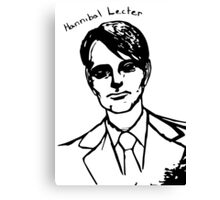 Hannibal Lecter Sketch Canvas Print