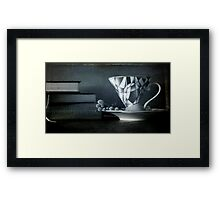 Tea cups and Seed Books Framed Print