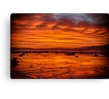 Long Reef on fire Canvas Print
