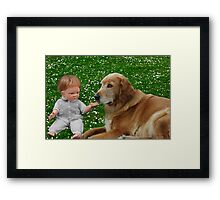 ❀◕‿◕❀PRECIOUS MOMENTS IN TIME-THE LOVE OF A DOG❀◕‿◕❀KINDLY VIEW VIDEO 2 C MY INSPIRATION IN CREATING THIS PICTURE TY HUGS❀◕‿◕❀ Framed Print
