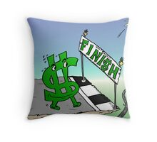 Mighty Buck Nears Bailout Cliff Throw Pillow
