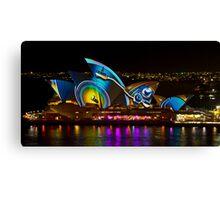 Record Sails - Sydney Vivid Festival - Sydney Opera House Canvas Print
