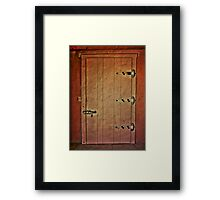 Vintage Adobe Door Framed Print