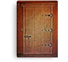 Vintage Adobe Door Canvas Print