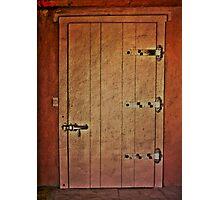 Vintage Adobe Door Photographic Print