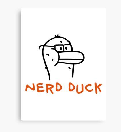 Nerd Duck Canvas Print