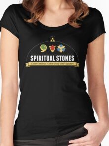Spiritual Stones Women's Fitted Scoop T-Shirt
