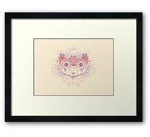 Cat flower Framed Print