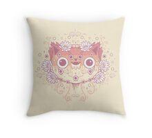Cat flower Throw Pillow