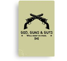 God, Guns & Guts VRS2 Canvas Print