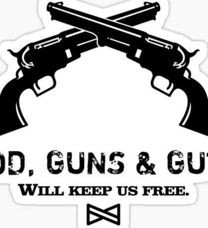 God, Guns & Guts VRS2 Sticker