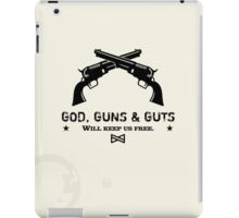 God, Guns & Guts VRS2 iPad Case/Skin
