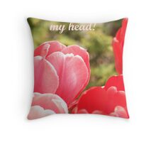 I'm scratching my head Throw Pillow