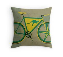 Australia Bike Throw Pillow